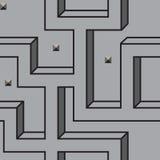 Vector naadloos patroon van labyrintlijnen Stock Afbeeldingen