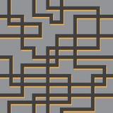 Vector naadloos patroon van lijnen Stock Afbeelding