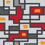 Vector naadloos patroon van lijnen Royalty-vrije Stock Foto's