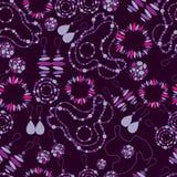 Vector naadloos patroon van manierjuwelen Royalty-vrije Stock Fotografie