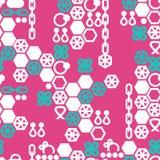 Vector naadloos patroon van manierjuwelen Stock Afbeeldingen