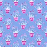 Vector naadloos patroon van mooie installaties met bloemen Het beste voor Valentines Dag, Huwelijk en Verjaardagsontwerp stock illustratie
