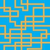 Vector naadloos patroon van oranje lijnen Royalty-vrije Stock Afbeelding