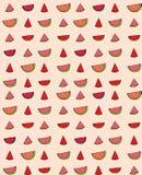 Vector naadloos patroon van plakkenwatermeloen Royalty-vrije Stock Fotografie