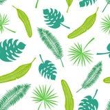 Vector naadloos patroon van tropische bladeren vector illustratie