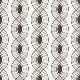 Vector naadloos patroon van verweven lijnen Stock Foto