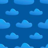Vector naadloos patroon van wolken vector illustratie