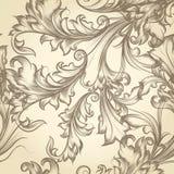 Vector naadloos patroon voor behangontwerp met bloemenwervelingen Stock Fotografie