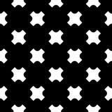 Vector naadloos patroon, witte kruisen op zwarte achtergrond Royalty-vrije Stock Afbeelding