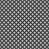 Vector naadloos patroon, zwart & wit die punten kruisen vector illustratie