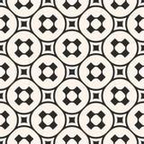 Vector naadloos patroon, zwart-wit geometrische textuur, vlotte pe Royalty-vrije Stock Afbeelding