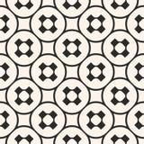 Vector naadloos patroon, zwart-wit geometrische textuur, vlotte pe Stock Fotografie