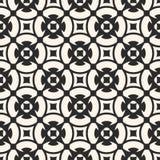 Vector naadloos patroon, zwart-wit mozaïektextuur, sierb Stock Foto's