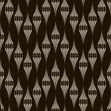 Vector naadloos patroon zwart-wit ornament met gestileerd geomet Royalty-vrije Stock Foto's