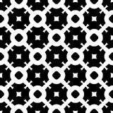 Vector naadloos patroon, zwart-wit roostertextuur Stock Foto's