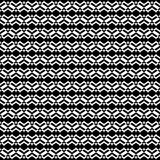 Vector naadloos patroon, zwart-wit textuur, zwarte & wit Royalty-vrije Stock Afbeelding