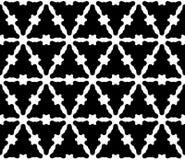 Vector naadloos patroon, zwart-wit vlot driehoekig rooster Royalty-vrije Stock Afbeelding