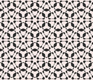 Vector naadloos patroon, zwart-wit vlot driehoekig rooster Royalty-vrije Stock Afbeeldingen