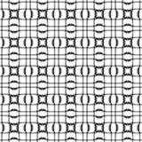 Vector naadloos patroon, zwart-witte geometrische cijfers Abstract herhaal zwart-wit achtergrond Royalty-vrije Stock Afbeeldingen