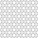 Vector naadloos patroon, zwarte cijfers op wit Stock Foto's