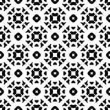 Vector naadloos patroon, zwarte & witte mosiac Royalty-vrije Stock Fotografie