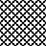Vector naadloos patroon, zwarte & witte tegels Stock Foto