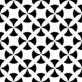 Vector naadloos patroon, zwarte & witte textuur Stock Foto