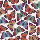 Vector naadloos patroonontwerp met vlinders Royalty-vrije Stock Afbeeldingen