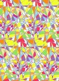 Vector naadloos patroonsamenvatting gekleurd gebrandschilderd glas vector illustratie