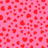 Vector naadloos retro patroon, harten Kan voor behang worden gebruikt, campets, vult het patroon, Web-pagina achtergrond, oppervl Stock Foto's