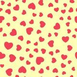Vector naadloos retro patroon, harten Kan voor behang worden gebruikt, vult het patroon, Web-pagina achtergrond, oppervlaktetextu Stock Afbeelding