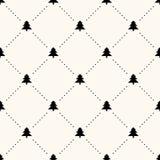 Vector naadloos retro patroon, Kerstmisbomen Royalty-vrije Stock Afbeeldingen