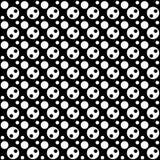 Vector naadloos rond abstract zwart-wit patroon Abstract Behang als achtergrond Vector illustratie Royalty-vrije Stock Fotografie