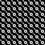 Vector naadloos rond abstract zwart-wit patroon Abstract Behang als achtergrond Vector illustratie Stock Foto