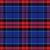 Vector naadloos rood en blauw Schots geruit Schots wollen stof royalty-vrije illustratie