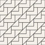 Vector naadloos roosterpatroon Moderne modieuze textuur met zwart-wit latwerk Het herhalen van geometrisch net Eenvoudig ontwerp vector illustratie