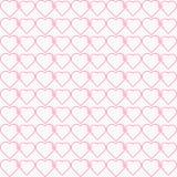 Vector naadloos samengebonden patroon van hart vector illustratie