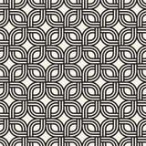 Vector naadloos subtiel roosterpatroon Moderne modieuze textuur met zwart-wit latwerk Het herhalen van geometrisch net royalty-vrije illustratie