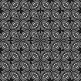 Vector naadloos subtiel roosterpatroon Moderne modieuze textuur met zwart-wit latwerk Het herhalen van geometrisch net Overladen, royalty-vrije illustratie