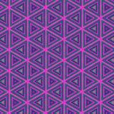 Vector naadloos trillend roze patroon met geometrische symmetrie vector illustratie