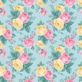 Vector naadloos uitstekend bloemenpatroon. Stock Foto