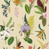 Vector Naadloos uitstekend bloemenpatroon royalty-vrije illustratie