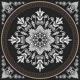 Vector naadloos uitstekend wit Grieks ornament (Meander) vector illustratie