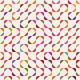 Vector Naadloos Veelkleurig Maze Arcs Geometric Pattern royalty-vrije illustratie