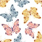 Vector naadloos vlinderpatroon Royalty-vrije Stock Fotografie