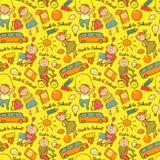 Vector naadloos vrolijk patroon van school, Stock Foto's