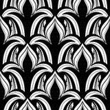 Vector Naadloos Zwart-wit Damastpatroon stock illustratie