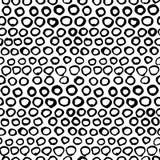 Vector naadloos zwart-wit grafisch hand getrokken patroon Royalty-vrije Stock Afbeeldingen