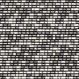Vector Naadloos Zwart-wit Onregelmatig het Netpatroon van Streepjerechthoeken Abstract geometrisch Ontwerp als achtergrond stock illustratie