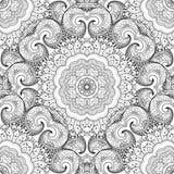 Vector Naadloos Zwart-wit Overladen Patroon Stock Foto
